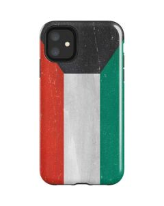 Kuwait Flag Distressed iPhone 11 Impact Case