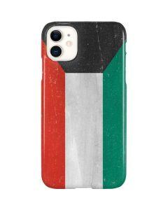 Kuwait Flag Distressed iPhone 11 Lite Case