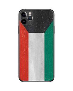 Kuwait Flag Distressed iPhone 11 Pro Max Skin