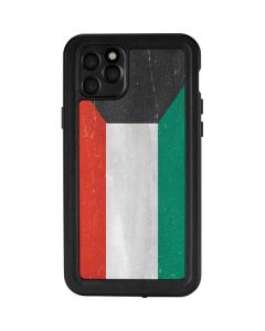 Kuwait Flag Distressed iPhone 11 Pro Max Waterproof Case