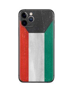 Kuwait Flag Distressed iPhone 11 Pro Skin