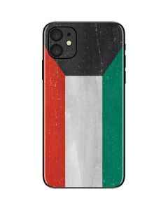 Kuwait Flag Distressed iPhone 11 Skin
