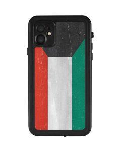 Kuwait Flag Distressed iPhone 11 Waterproof Case