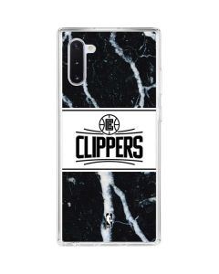LA Clippers Marble Galaxy Note 10 Clear Case