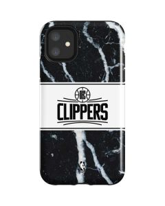 LA Clippers Marble iPhone 11 Impact Case