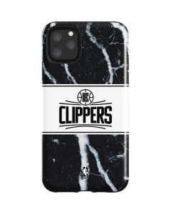 LA Clippers Marble iPhone 11 Pro Max Impact Case