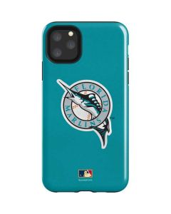 Large Vintage Marlins iPhone 11 Pro Max Impact Case