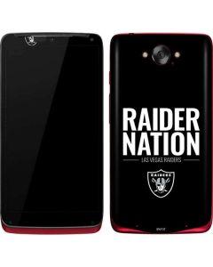 Las Vegas Raiders Team Motto Motorola Droid Skin