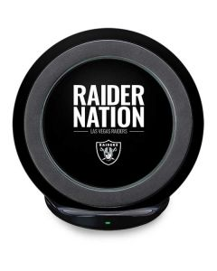 Las Vegas Raiders Team Motto Fast Charge Wireless Charging Stand Skin