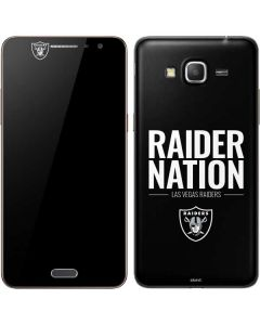 Las Vegas Raiders Team Motto Galaxy Grand Prime Skin