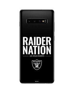 Las Vegas Raiders Team Motto Galaxy S10 Plus Skin