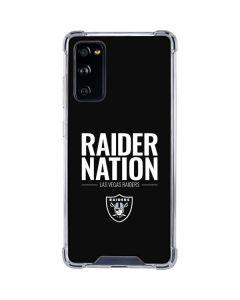 Las Vegas Raiders Team Motto Galaxy S20 FE Clear Case