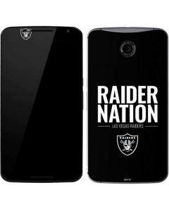 Las Vegas Raiders Team Motto Google Nexus 6 Skin