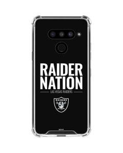Las Vegas Raiders Team Motto LG V50 ThinQ Clear Case