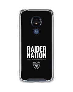 Las Vegas Raiders Team Motto Moto G7 Power Clear Case