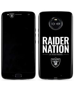 Las Vegas Raiders Team Motto Moto X4 Skin