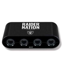 Las Vegas Raiders Team Motto Nintendo GameCube Controller Adapter Skin