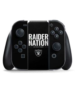 Las Vegas Raiders Team Motto Nintendo Switch Joy Con Controller Skin