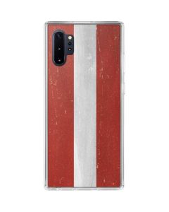 Latvia Flag Distressed Galaxy Note 10 Plus Clear Case