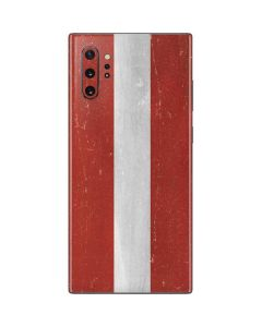 Latvia Flag Distressed Galaxy Note 10 Plus Skin
