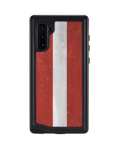 Latvia Flag Distressed Galaxy Note 10 Waterproof Case