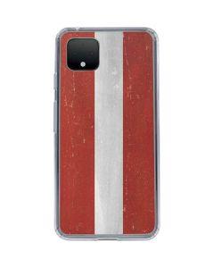Latvia Flag Distressed Google Pixel 4 Clear Case