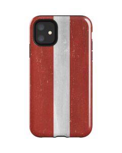 Latvia Flag Distressed iPhone 11 Impact Case