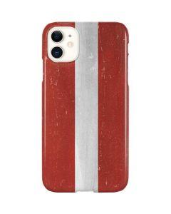 Latvia Flag Distressed iPhone 11 Lite Case