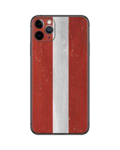 Latvia Flag Distressed iPhone 11 Pro Max Skin