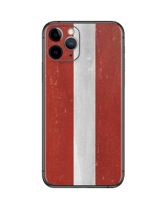 Latvia Flag Distressed iPhone 11 Pro Skin