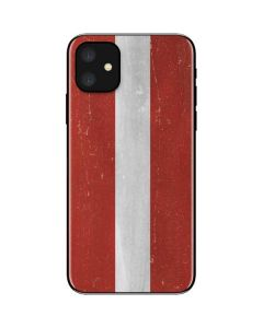 Latvia Flag Distressed iPhone 11 Skin