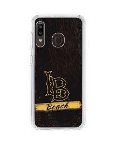 LB Beach Black Galaxy A20 Clear Case