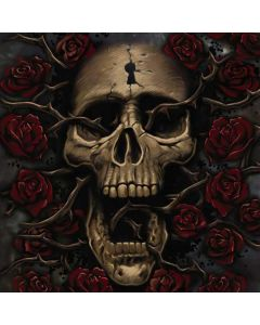 Skull Entwined with Roses Galaxy Book Keyboard Folio 12in Skin