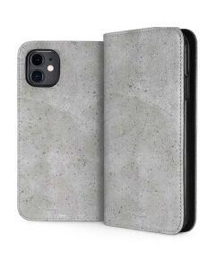 Light Grey Concrete iPhone 11 Folio Case