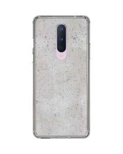Light Grey Concrete OnePlus 8 Clear Case
