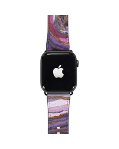 Lilac Watercolor Geode Apple Watch Band 38-40mm