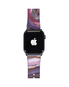 Lilac Watercolor Geode Apple Watch Band 42-44mm
