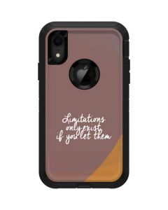 Limitations Only Exist If You Let Them Otterbox Defender iPhone Skin