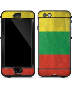Lithuania Flag Distressed LifeProof Nuud iPhone Skin
