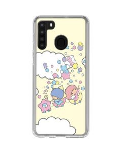 Little Twin Stars Floating Galaxy A21 Clear Case