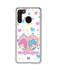 Little Twin Stars Hearts Galaxy A21 Clear Case
