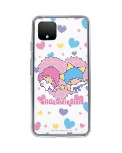 Little Twin Stars Hearts Google Pixel 4 Clear Case