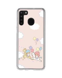 Little Twin Stars Riding Galaxy A21 Clear Case
