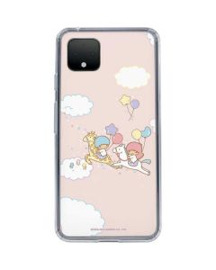 Little Twin Stars Riding Google Pixel 4 Clear Case