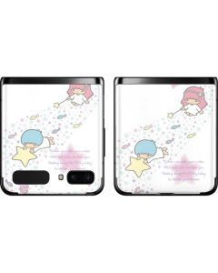 Little Twin Stars Wish Upon A Star Galaxy Z Flip Skin