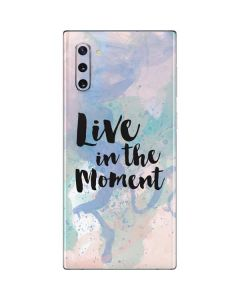 Live In The Moment Pastel Galaxy Note 10 Skin