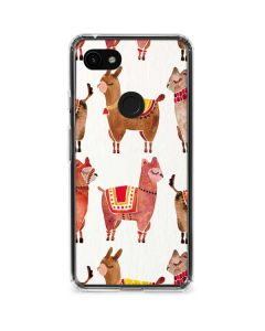 Alpacas Google Pixel 3a Clear Case