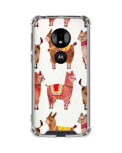 Alpacas Moto G7 Play Clear Case