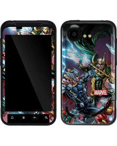 Loki Fighting Avengers Droid Incredible 2 Skin