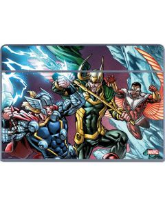 Loki Fighting Avengers Galaxy Book Keyboard Folio 12in Skin